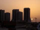 Crown Plaza, Sheikh Zayed Road, at sunset