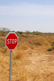 Stop sign, western Mali