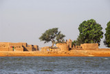 Village along the Niger River near Mopti, Mali