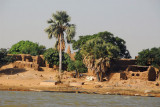 Village with a small mosque, Niger River, Mali