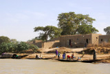 Substantial village along the Niger River, Mali