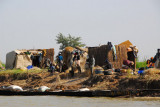 Nomad village along the Niger River downstream of Mopti