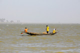 The Niger River is wide enough to have some whitecaps
