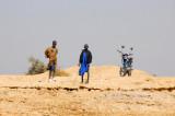 Fulani boys with a motorbike, Mali