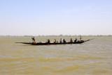 A large pirogue, Niger River, Mali