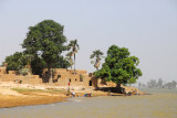 Village on the north shore of the Niger River, Mali