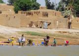 North shore village, Niger River, Mali
