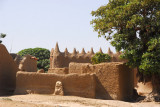 Mosque in a village on the north shore, Niger River, Mali