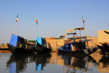 Harbor of Konna, Mali, on the Niger River