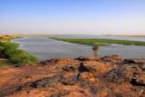Niger River from a hilltop at Labbézanga, Niger