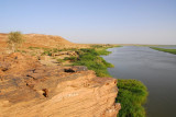 Cliff overlooking the Niger at Labbézanga, Niger