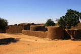 Walled compound with round towers, Niger