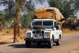 Fully loaded pick up truck, Niger