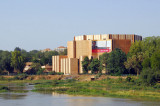 Palais des Congress, Niamey, from the Kennedy Bridge