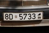License plate of the Republique Niger, Niamey
