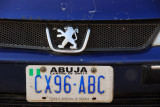 Nigerian license plate from Abuja