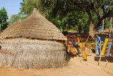 Thatch hut in the crafts village, Niger National Museum