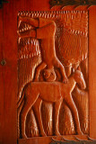 Carved wooden door, Royal Palace of Abomey