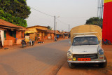 A brick-paved road, Abomey, Benin