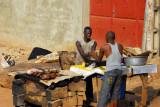 Roadside grill, Parakou, Benin