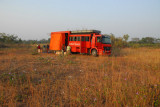 The driver and guide had a more difficult time finding a suitable camping spot in central Benin than in Mali or Niger