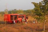 Rotel breaking camp, Benin