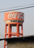 Coca-Cola watertower, Savé, Bénin