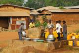 Villages gathered around a well, Benin
