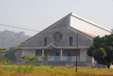 The giant Basilica of Notre Dame d'Arigbo, Dassa-Zoumé, Benin