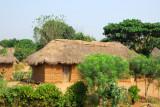 Thatched hut a short distance south of Paouignan, Benin