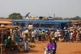 Bus arrival chaos, Bohicon, Benin