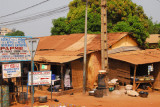 One of those signs is for a Chinese Pharmacy, Bohicon, Benin