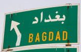 Roadsign for Bagdad