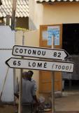 Benin coastal highway connecting Cotonou with Lomé, Togo