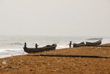 Fishing boats on the beach at Grand Popo, Benin