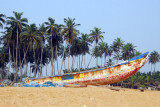 Fishing boat on the beach at Grand Popo, Benin