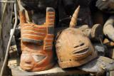 Masks for sale, Hotel Carrefour Ganvié