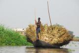 Cargo boat, Lac Nakoué, Bénin