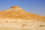 Palmyra Castle, the Arab fort built a thousand years after the Roman city below