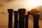 Standing columns, Palmyra, at sunset
