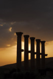Columns at sunset, Palmyra