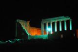 The Sanctuary of Bel, Palmyra, illuminated at night