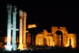 Monumental Archway, Palmyra, at night