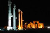 Palmyra at night