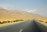Damascus-Baghdad Highway heading east into the Syrian Desert