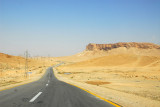 Road through the Syrian Desert leaving Palmyra