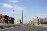 Highway through a modern section of Damascus