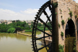 Norias are giant medieval waterwheels used to convey water via aqueducts to irrigate fields