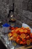 Fresh squeezed orange juice stand, Aleppo