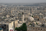 View of the new districts of Aleppo from the Citadel